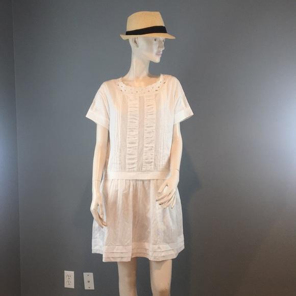 kate spade Dresses & Skirts - NWT Kate Spade Cotton White Summer Dress Sz 8